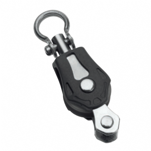 Barton 20mm (Size 0) Single Swivel and Becket Block with Shackle